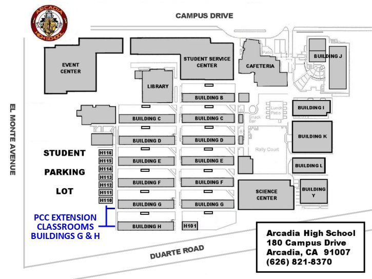 Pcc Extension Campus And Location Maps